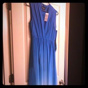 Blue ombré maxi dress